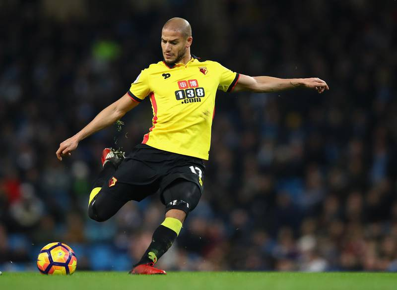 MANCHESTER, ENGLAND - DECEMBER 14:  Adlene Guedioura of Watford in action during the Premier League match between Manchester City and Watford at Etihad Stadium on December 14, 2016 in Manchester, England.  (Photo by Clive Brunskill/Getty Images)