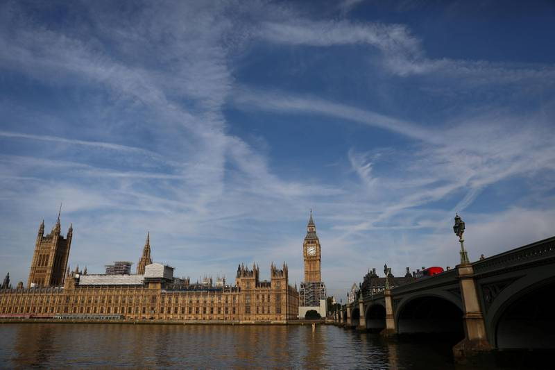 The Elizabeth Tower, which houses the Great Clock and the 'Big Ben' bell, is seen above the Houses of Parliament, in central London, Britain August 14, 2017. REUTERS/Neil Hall