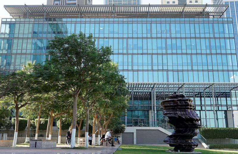 DUBAI , UNITED ARAB EMIRATES , NOV 27   – 2017 :- Exterior view of the Legatum Plaza at DIFC in Dubai.  (Pawan Singh / The National)