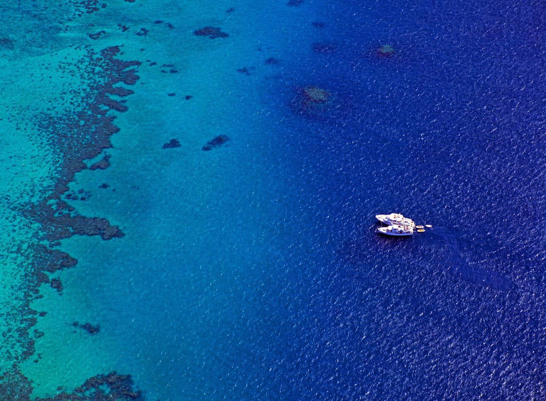 Australia, Queensland, Cairns, View of Great Barrier Reef in Queensland. (Photo by: JTB Photo/UIG via Getty Images)
