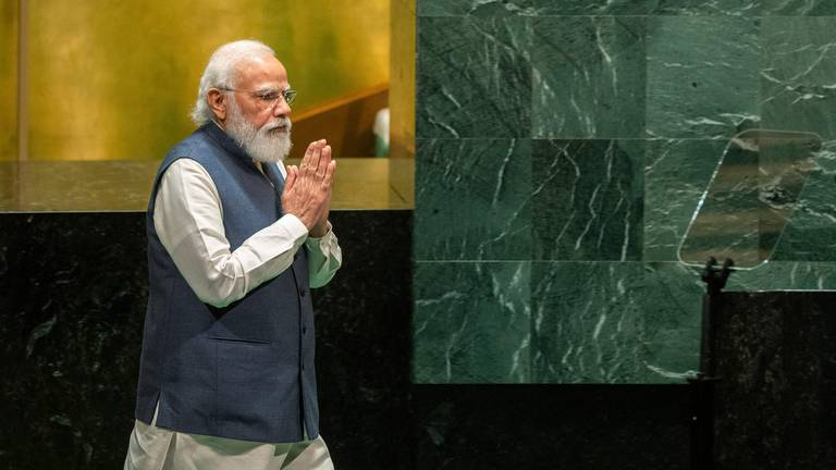 An image that illustrates this article India's Modi takes aim at Pakistan and China in UNGA address