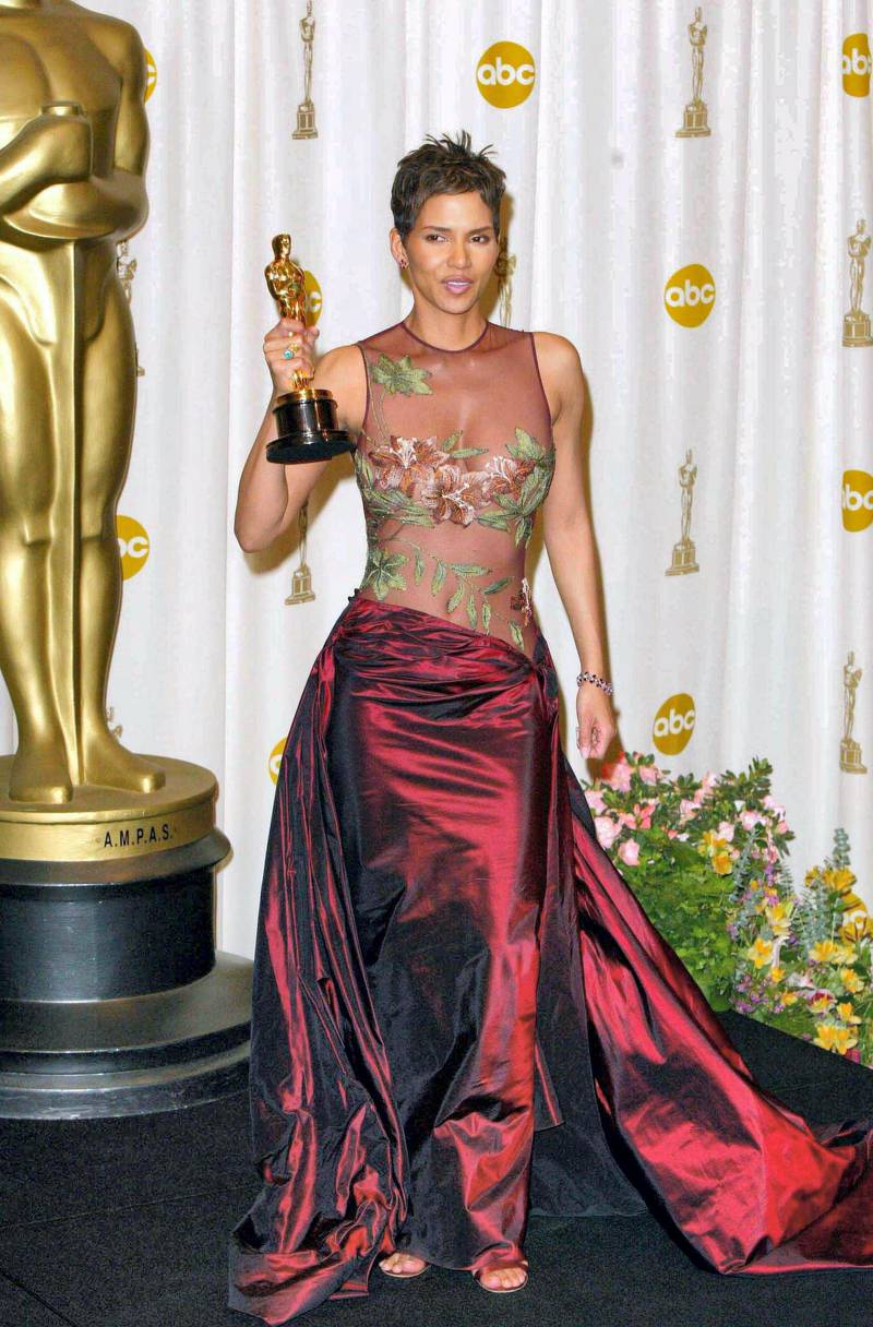 Mandatory Credit: Photo by Sipa/Shutterstock (379656b) HALLE BERRY AT THE OSCARS IN THE DRESS DESIGNED BY ELIE SAAB ELIE SAAB - FASHION DESIGNER WHO DESIGNED HALLE BERRY'S OSCAR DRESS, BEIRUT, LEBANON - 2002