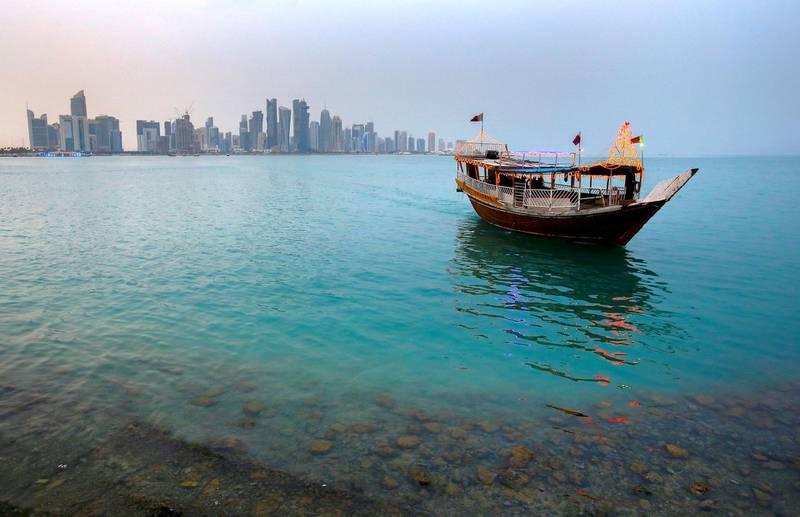 Boat on Doha Bay, Qatar  *** Local Caption *** 51859869