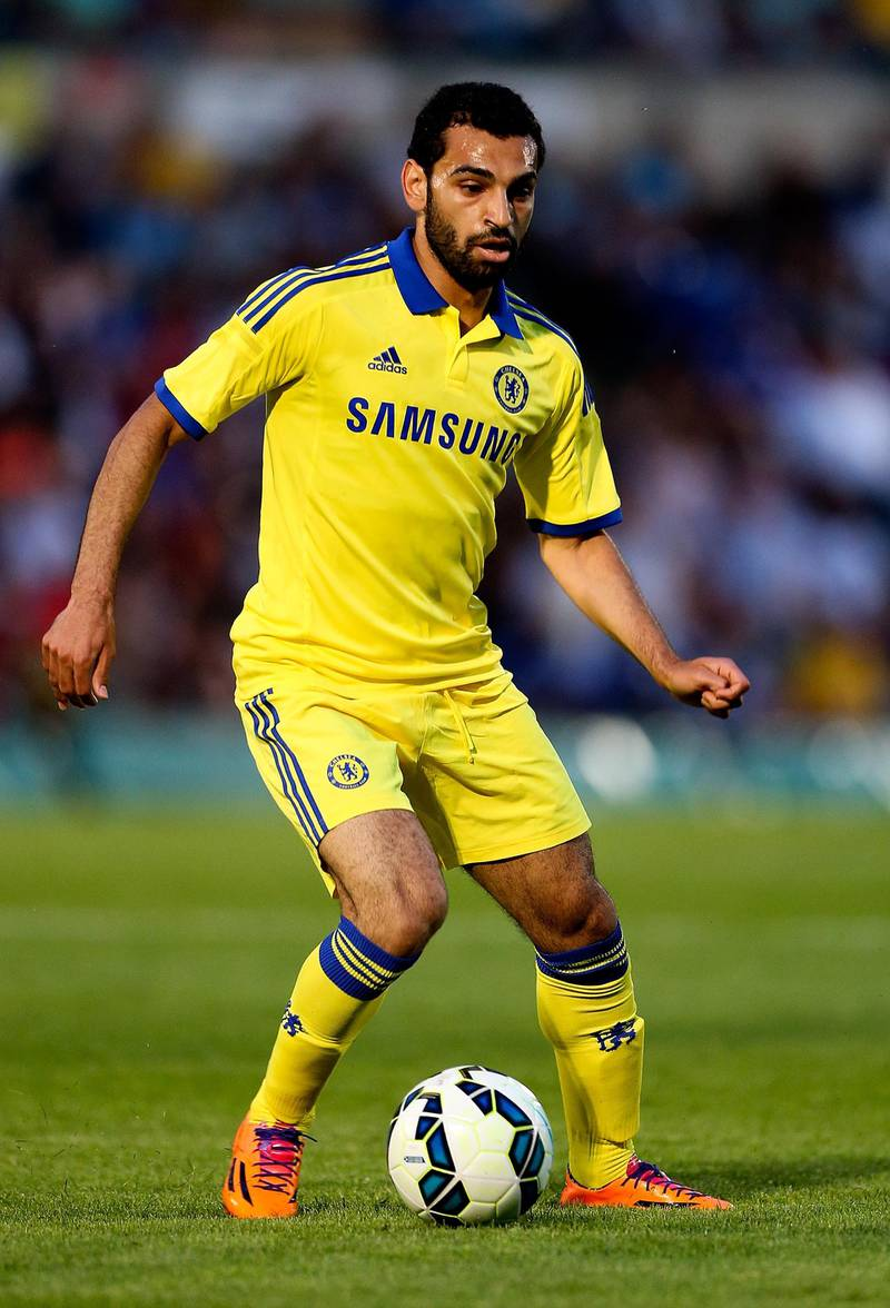 HIGH WYCOMBE, ENGLAND - JULY 16:  Mohamed Salah of Chelsea in action duing the pre season friendly match between Wycombe Wanderers and Chelsea at Adams Park on July 16, 2014 in High Wycombe, England.  (Photo by Ben Hoskins/Getty Images)