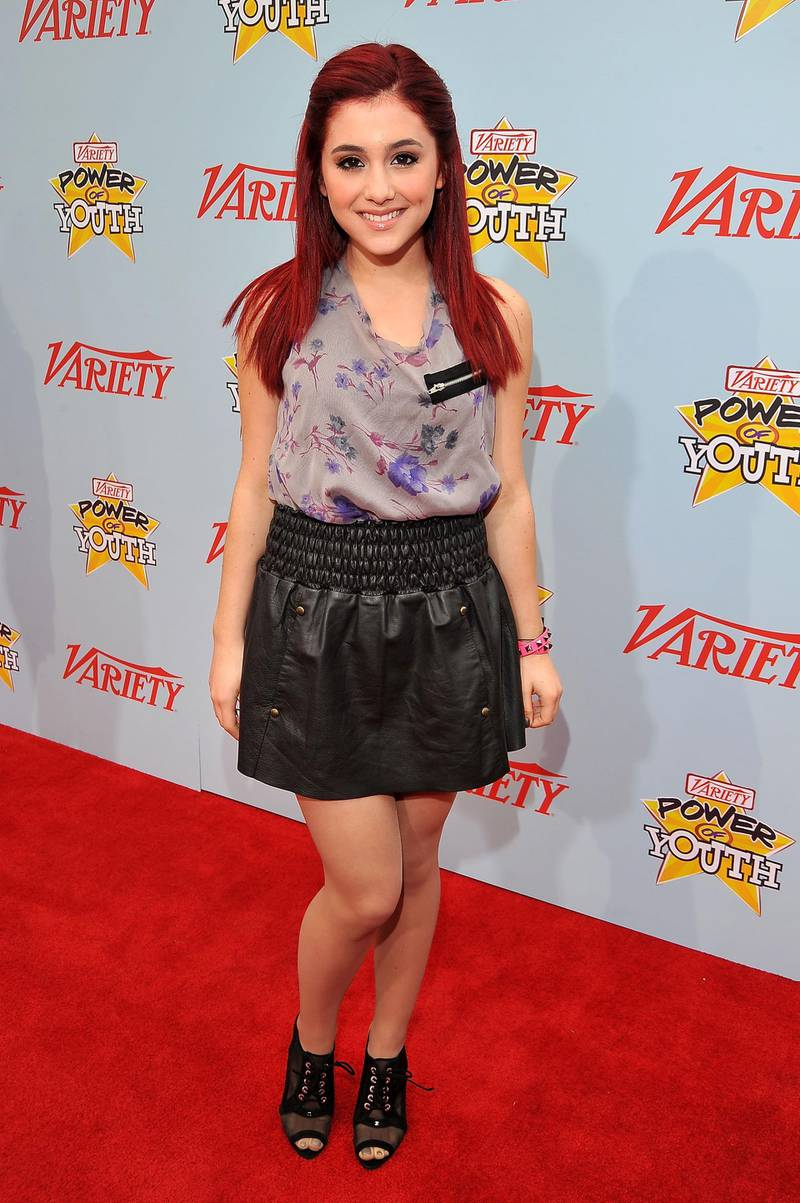 """LOS ANGELES, CA - DECEMBER 05:  Actress Ariana Grande arrives at Variety's 3rd annual """"Power of Youth"""" event held at Paramount Studios on December 5, 2009 in Los Angeles, California.  (Photo by Lester Cohen/WireImage)  *** Local Caption ***"""