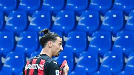 Zlatan Ibrahimovic on fire before getting straight red for dissent as Milan keep remote title dreams alive - in pictures