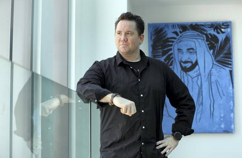 41-year-old Austrian John Duval found out he had undiagnosed diabetes when he was fighting Covid-19. He introduced lifestyle changes and is now in remission. Pictured at GluCare in Dubai on April 22nd, 2021. Chris Whiteoak / The National.  Reporter: Nick Webster for News