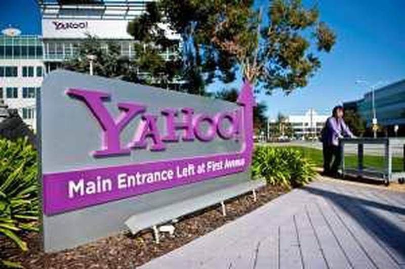 A pedestrian walks outside Yahoo! Inc. headquarters in Sunnyvale, California, U.S., on Thursday, Jan. 14 , 2010. Yahoo! Inc., owner of the No. 2 search engine in the U.S., was targeted by a Chinese attack similar to the one that affected Google Inc., according to a person familiar with the matter. Photographer: Ryan Anson/Bloomberg *** Local Caption ***  618787.jpg *** Local Caption ***  618787.jpg
