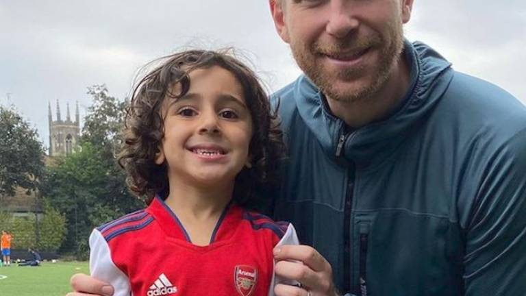 An image that illustrates this article Four-year-old footballer scouted by Arsenal
