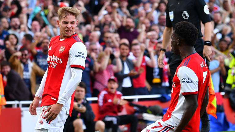 An image that illustrates this article Two Arsenal players selected: Premier League team of the week