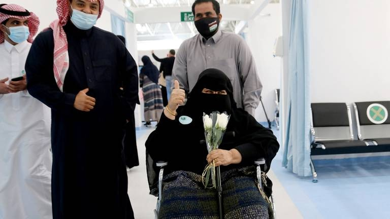 An image that illustrates this article Saudi Arabia to offer Covid-19 booster shots to over-60s