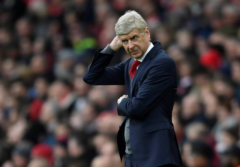 """Soccer Football - Premier League - Arsenal vs Watford - Emirates Stadium, London, Britain - March 11, 2018   Arsenal manager Arsene Wenger      Action Images via Reuters/Tony O'Brien    EDITORIAL USE ONLY. No use with unauthorized audio, video, data, fixture lists, club/league logos or """"live"""" services. Online in-match use limited to 75 images, no video emulation. No use in betting, games or single club/league/player publications.  Please contact your account representative for further details."""