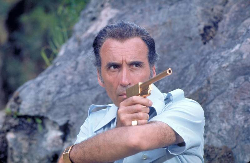 Christopher Lee in The Man with The Golden Gun. Courtesy United Artists