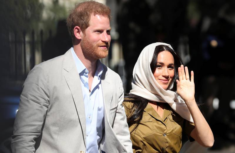 The Duke and Duchess of Sussex, Prince Harry and his wife Meghan, arrive at Auwal Mosque, the first and oldest mosque in South Africa, in the Bo Kaap district of Cape Town, South Africa, September 24, 2019. REUTERS/Sumaya Hisham