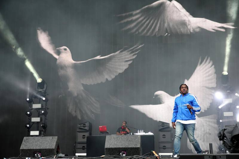 LONDON, ENGLAND - JULY 09:  Pusha T performs on day 3 of Wireless Festival at Finsbury Park on July 9, 2017 in London, England.  (Photo by Burak Cingi/Redferns/Getty Images)