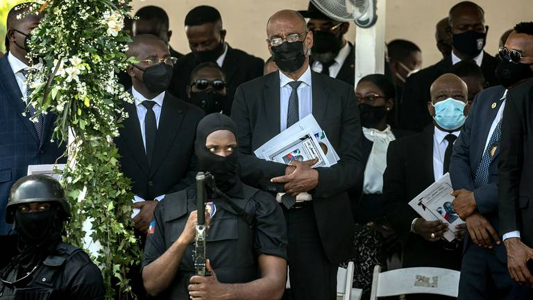 An image that illustrates this article Haiti's PM denies involvement in assassination of president Jovenel Moise