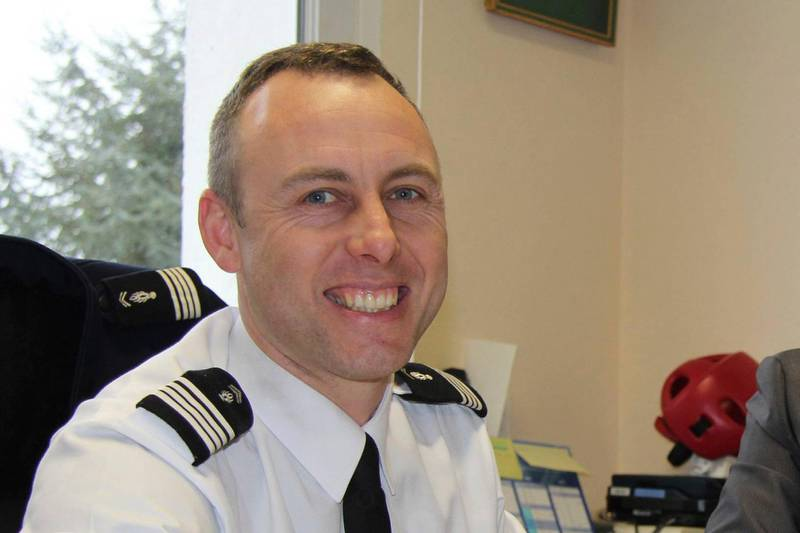 In this image dated March 2013 and provided by regional newspaper Ouest France, Arnaud Beltrame poses for a photo in Avranches, western France. The officer who offered to be swapped for a female hostage was identified as Col. Arnaud Beltrame. He managed to surreptitiously leave his phone on so that police outside could hear what was going on inside the supermarket — and crucially, decide when to storm it. (Ouest France via AP)