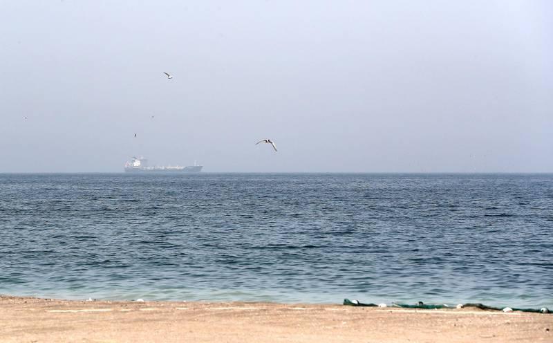 FUJAIRAH,  UNITED ARAB EMIRATES , May 12 – 2019 :- View of the sea area near the Fujairah Port in Fujairah. ( Pawan Singh / The National ) For News.