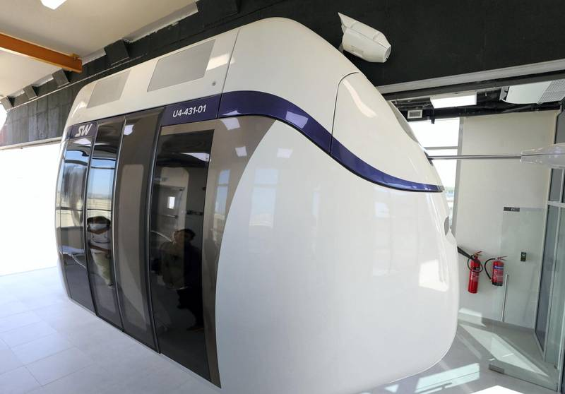 Sharjah, United Arab Emirates - Reporter: Nick Webster. News. Development of sky pods proposed to reduce carbon footprint in transport. Sharjah. Wednesday, January 6th, 2021. Chris Whiteoak / The National