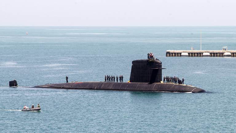 An image that illustrates this article Britain regrets French anger over Aukus submarine deal