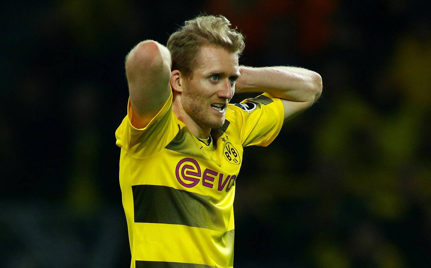 Soccer Football - Bundesliga - Borussia Dortmund vs Eintracht Frankfurt - Signal Iduna Park, Dortmund, Germany - March 11, 2018   Borussia Dortmund's Andre Schurrle reacts               REUTERS/Thilo Schmuelgen    DFL RULES TO LIMIT THE ONLINE USAGE DURING MATCH TIME TO 15 PICTURES PER GAME. IMAGE SEQUENCES TO SIMULATE VIDEO IS NOT ALLOWED AT ANY TIME. FOR FURTHER QUERIES PLEASE CONTACT DFL DIRECTLY AT + 49 69 650050
