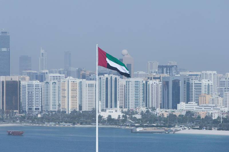 Abu Dhabi, United Arab Emirates, April 10, 2017:     General view of the downtown skyline seen from the observation tower at Marina Mall in Abu Dhabi on April 10, 2017. Christopher Pike / The NationalReporter:  N/ASection: BusinessKeywords:  *** Local Caption ***  CP0410-bz-STOCK-skyline-07.JPG