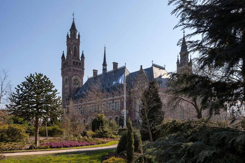 D7K76N Peace Palace, The Hague, South Holland, Netherlands