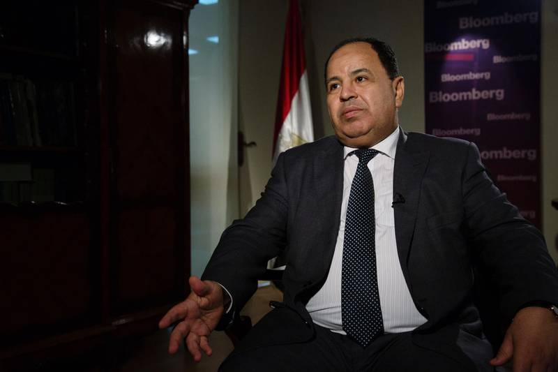 Mohammed Maait, Egypt's finance minister, speaks during a Bloomberg Television interview in Cairo, Egypt, on Tuesday, Nov. 27, 2018. A proposed change to the way Egypt taxes Treasury bill holdings may not hit bank profits as hard as initially thought, the research arm of Cairo-based investment bankEFG-Hermessaid. Photographer: SimaDiab/Bloomberg