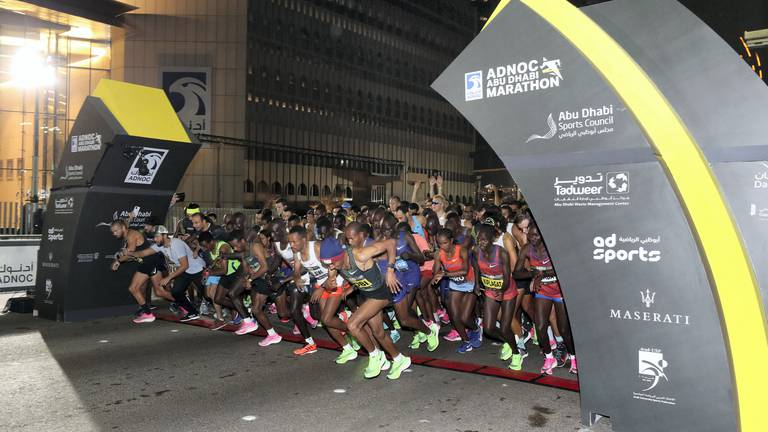 An image that illustrates this article Adnoc Abu Dhabi Marathon returns for third event with prize fund of $300,000