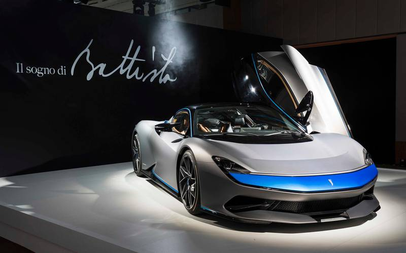 Automobili Pininfarina's ground-breaking Battista luxury electric hypercar revealed in three different beautiful specifications at the World Premiere of the all-electric hypercar in Geneva 4th March 2019World Copyright: Patrick Gosling / Stan Papior BeadyeyeRef:  Automobili_Pininfarina_Battista_GIMS_2019-01155.jpg