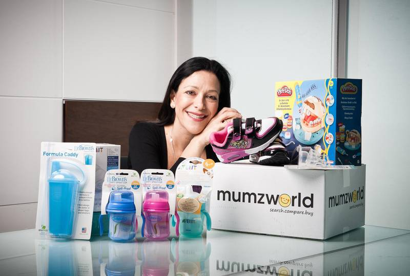 Mona Ataya, founder and CEO of Mumzworld, an onlne market place dedicated to products for mothers with small children, poses for a portrait in her office on Monday, October 24, 2011, in Dubai, UAE. Photo by Siddharth Siva for The National