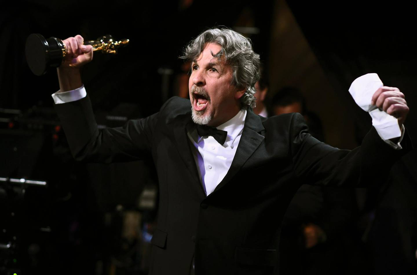 """91st Academy Awards - Oscars Backstage - Hollywood, Los Angeles, California, U.S., February 24, 2019.  """"Green Book"""" director Peter Farrelly reacts.  Matt Petit /A.M.P.A.S./Handout via REUTERS ATTENTION EDITORS. THIS IMAGE HAS BEEN SUPPLIED BY A THIRD PARTY. NO MARKETING OR ADVERTISING IS PERMITTED WITHOUT THE PRIOR CONSENT OF A.M.P.A.S AND MUST BE DISTRIBUTED AS SUCH. MANDATORY CREDIT."""
