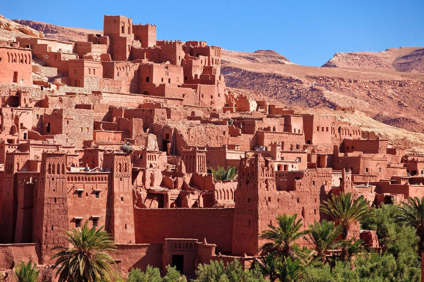 Aït Benhaddou is a 'fortified city', or ksar, along the former caravan route between the Sahara and Marrakech in present-day Morocco. Getty Images