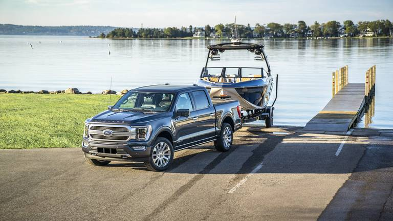 An image that illustrates this article Road test: the Ford F150 Platinum Hybrid is a luxury, fuel-efficient truck