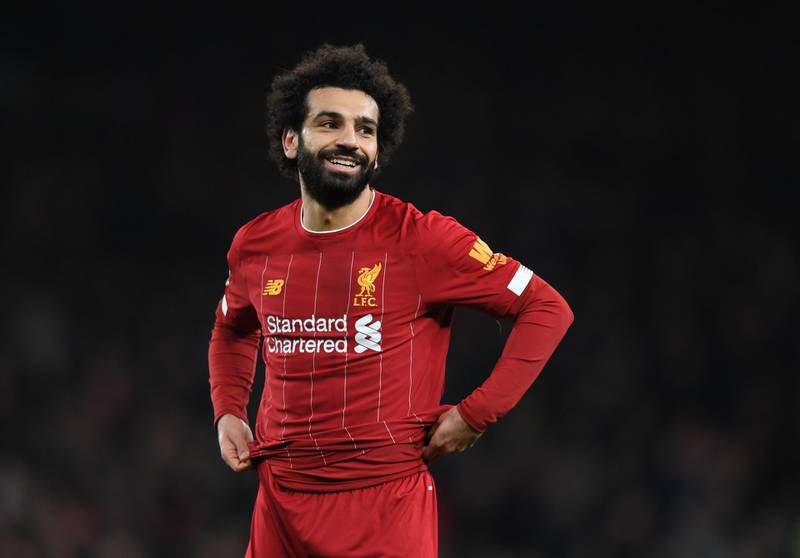 LONDON, ENGLAND - JANUARY 11:  Mohamed Salah of Liverpool reacts during the Premier League match between Tottenham Hotspur and Liverpool FC at Tottenham Hotspur Stadium on January 11, 2020 in London, United Kingdom. (Photo by Shaun Botterill/Getty Images)