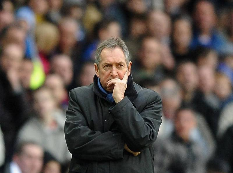 BIRMINGHAM, ENGLAND - JANUARY 16: Gerard Houllier of Aston Villa looks on during the Barclays Premier League match between Birmingham City and Aston Villa at St Andrews on January 16, 2011 in Birmingham, England.  (Photo by Laurence Griffiths/Getty Images)