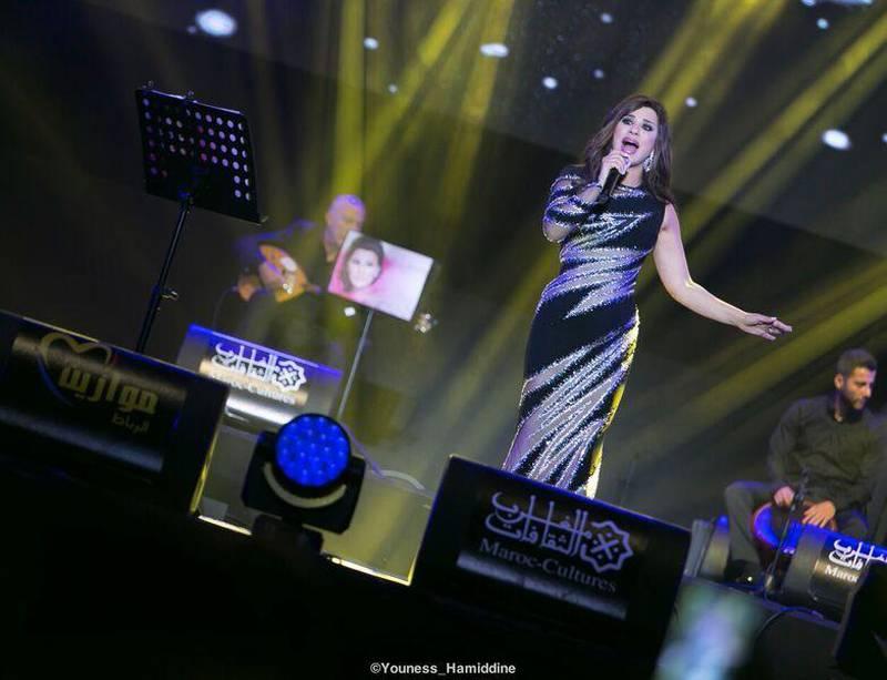 Najwa Karam performed on Thursday as part of the Mawazine Festival in Rabat Morocco. Courtesy Youness Hamiddine *** Local Caption ***  Najwa Karam.jpg