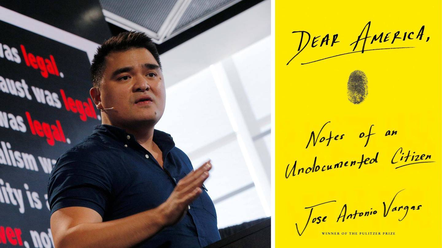 Dear America: Notes of an Undocumented Citizen by Jose Antonio Vargas published by Dey Street Books. Courtesy HarperCollins