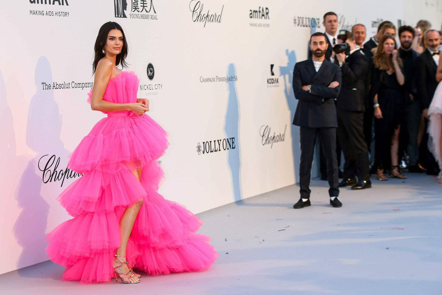 Mandatory Credit: Photo by People Picture/Willi Schneider/Shutterstock (10247149am) Kendall Jenner amfAR's 26th Cinema Against AIDS Gala, Arrivals, 72nd Cannes Film Festival, France - 23 May 2019 Wearing Giambattista Valli x H&M