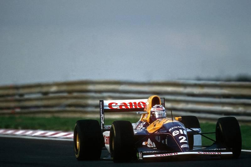 Alain Prost, Williams-Renault FW15C, Grand Prix of Portugal, Autodromo do Estoril, September 26, 1993. (Photo by Paul-Henri Cahier/Getty Images)