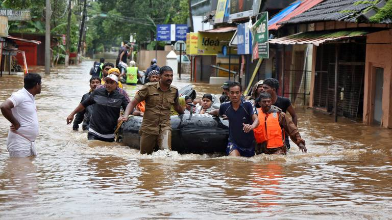 An image that illustrates this article Severe flash flooding hits India's southern state of Kerala