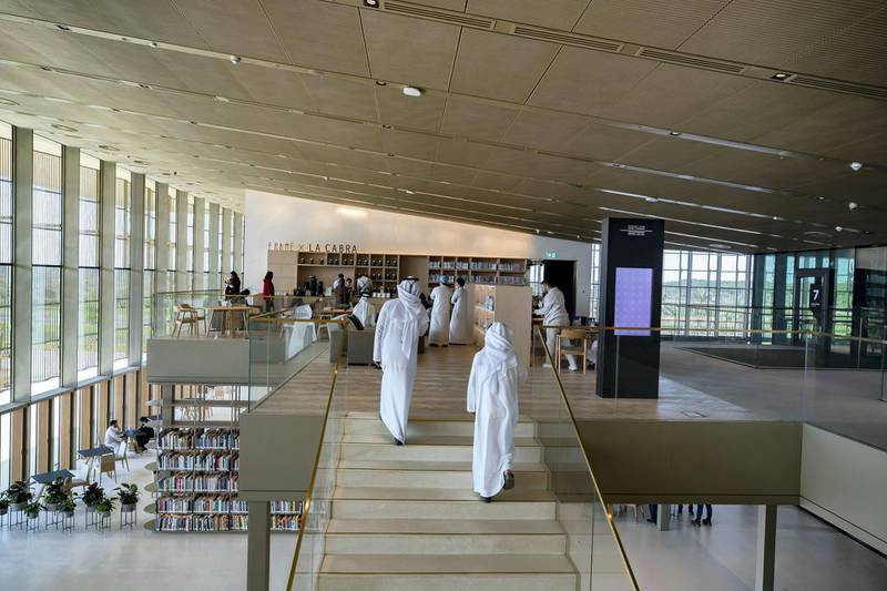 Sharjah, United Arab Emirates - December 10, 2020: News. Arts. Opening of the House of Wisdom, a high tech new library. Thursday, December 10th, 2020 in Sharjah. Chris Whiteoak / The National