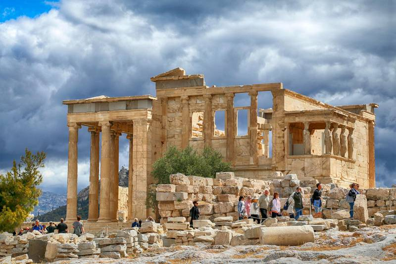 Erectheion Older Temple of Athena on the Acropolis of Athens, Greece. Getty Images
