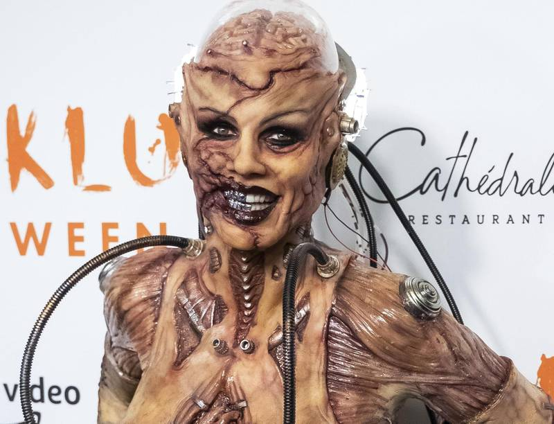 Heidi Klum attends her Halloween party at Cathedrale on Thursday, Oct. 31, 2019, in New York. (Photo by Charles Sykes/Invision/AP)