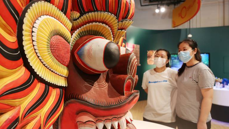 An image that illustrates this article Visitors tour the pavilions at Expo 2020 Dubai - in pictures