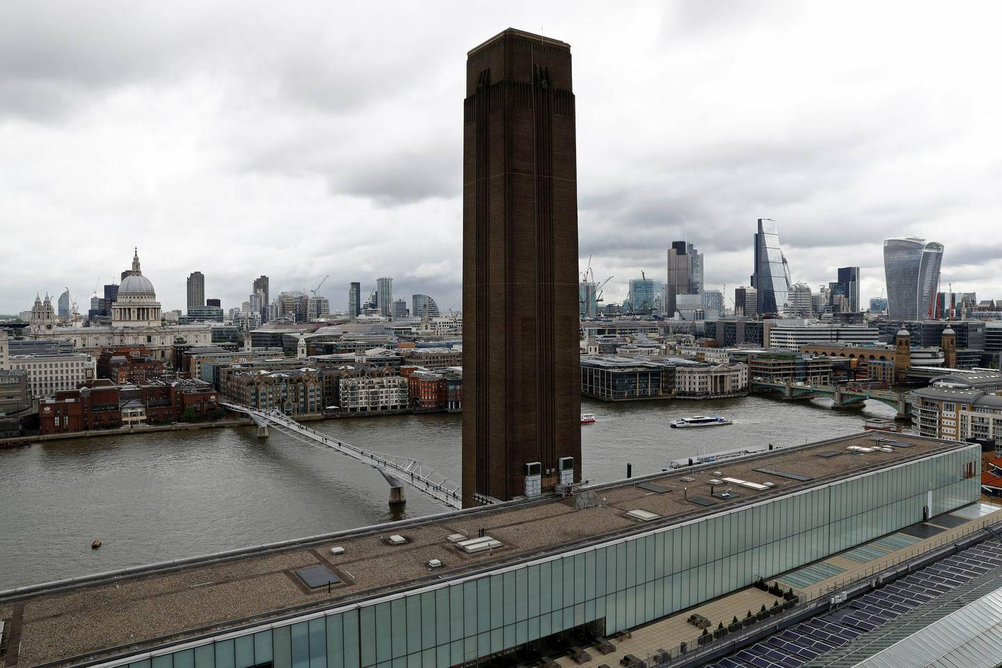 FILE PHOTO: The view from a new viewing platform during the unveiling of the New Tate Modern in London, Britain, June 14, 2016.    REUTERS/Stefan Wermuth/File Photo