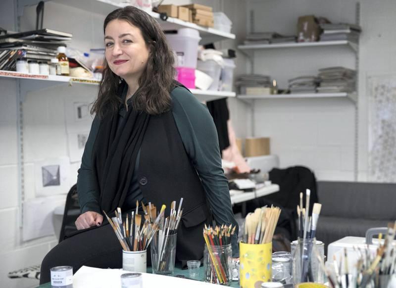 LONDON 12th February 2019. Saudi artist Daniah Alsaleh at her studio in London. Photo: Stephen Lock for the National  FOR ARTS & LIFE . Words: Melissa Gronlund