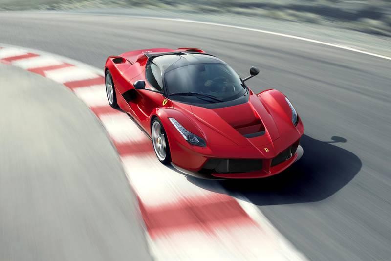 Ferrari's LaFerrari uses a cutting-edge KERS-boosted V12 engine and F1-inspired chassis construction and aerodynamics. (Photo Courtesy-Ferrari) *** Local Caption ***  Ferrari1.jpg