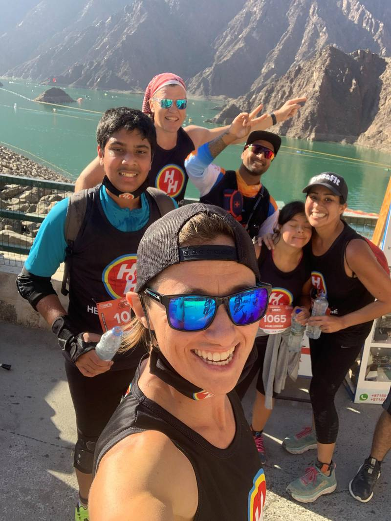 Twelve athletes with special needs from the non-profit group Heroes of Hope complete a gruelling endurance challenge in Hatta on Friday. It is the first time a group of people with special needs in the UAE took part in a demanding adventure sport. Courtesy: Heroes of Hope