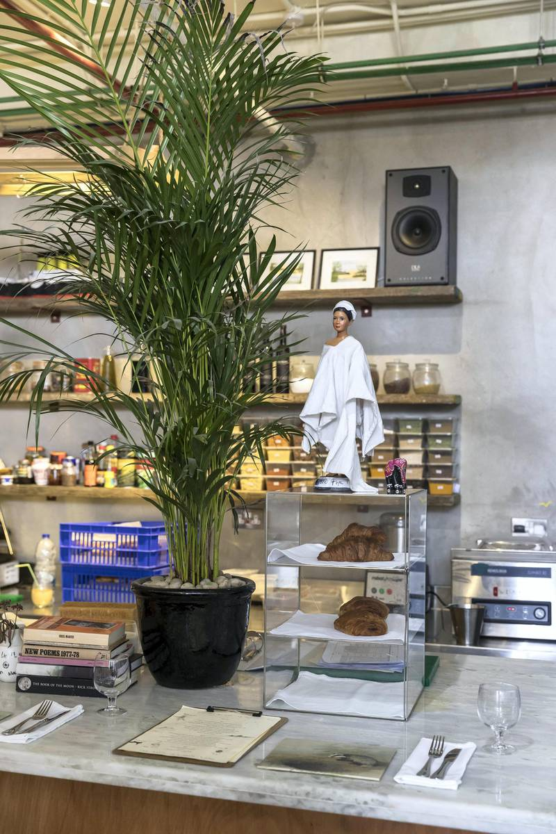 DUBAI, UNITED ARAB EMIRATES. 28 JANUARY 2018. Cabin, a restaurant and cafe that's also an art studio and a store located in Barsha South. (Photo: Antonie Robertson/The National) Journalist: Hala Khalaf. Section: Weekend.